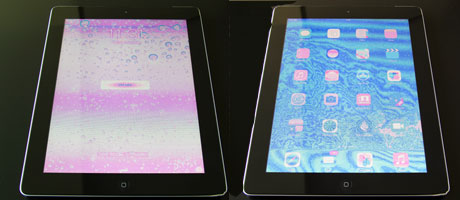 iPad Ekran Renklerinin Karışması