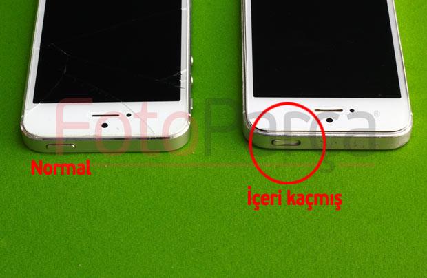 İphone kilit tuşu içeri kaçmış hali