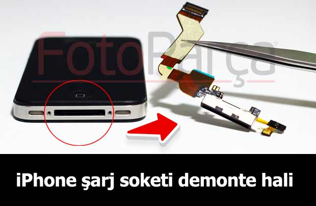 iPhone şarj soketi demonte