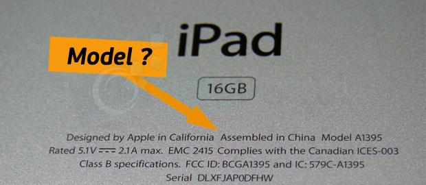 iPad modeli nasıl anlaşılır?