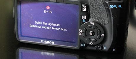 Dahili Flaş Açılamadı Kamerayı Kapatıp Tekrar Açın Err 05